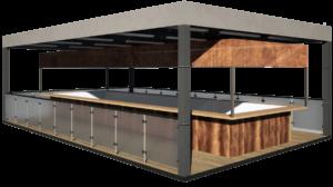 Модульный кафе - бар 55.7 м2